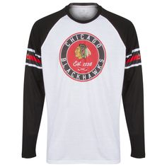 Chicago Blackhawks Men s Black and White Circle Logo Long Sleeve Shirt by  Levelwear  Chicago   4f58e1323