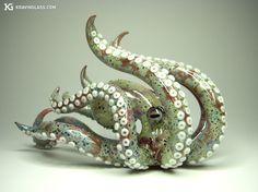 It's a glass pipe... I wouldn't smoke out of this but i love the design. I <3 Octopi.