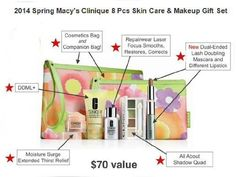 All About Shadow Quad in *Greens* + Repairwear Laser Focus oz Clinique Macy's 2013 Spring 7 Pcs Skin Care & Makeup Gift Set *Green Color* (A Makeup Kit Essentials, Clinique Gift, Best Hair Dryer, Makeup Gift Sets, Spring Makeup, Facial Skin Care, 1 Oz, Face Care, Lip Makeup