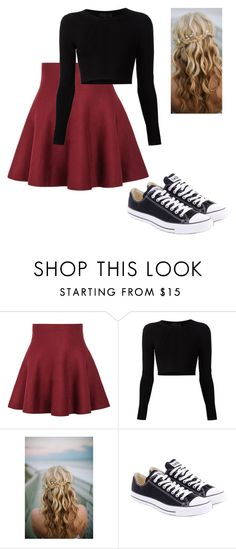 """Untitled #70"" by lovepeaceandnetflex ❤ liked on Polyvore featuring moda, Cushnie Et Ochs y Converse"