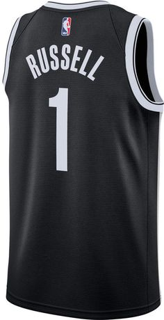 a654e18f8c4 Men's Nike Brooklyn Nets NBA D'Angelo Russell Icon Edition Connected Jersey