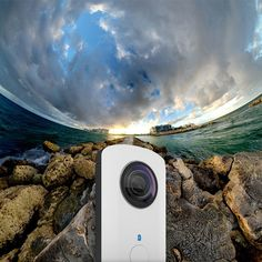 The first device to capture spherical scenes in one shot, the Ricoh Theta Camera features an ultra-small twin-lens folded optical system that captures the scene around, above and below the device in one shot for unprecedented, fully spherical images. Fitting easily in a pocket or the palm of a hand, the slim, lightweight (95-gram) camera is a go-anywhere device suited to confined spaces, the great outdoors and everywhere in between. The device is synchronized with smartphones, where images…