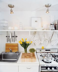 great small kitchen | Domino Mag #kitchen #home #interiordesign #details #style #beautiful #interior #cute #design #decor #elledecor #westelm