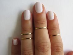 Gold Ring - Stacking rings, Knuckle Ring, Thin