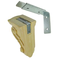 Federal Brace Wood Corbel Mounting System 4-In X 1-In X 2.5-In Plain S