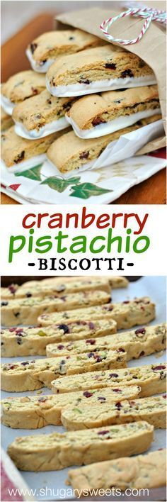 Cranberry Pistachio Biscotti recipe is easy to make and perfect for holidays! Christmas Biscotti Recipe, Recipe For Rusks, Cranberry Biscotti Recipe Easy, Italian Biscotti Recipe, Almond Flour Biscotti Recipe, Cantucci Recipe, Pizzelle Recipe, Italian Cookies, Pistachio Cranberry Biscotti