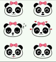 Panda Themed Party, Panda Birthday Party, Panda Party, Panda Love, Panda Bear, Felt Crafts, Diy And Crafts, Cute Panda Drawing, Kids Room Wall Art