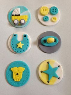 Fondant Topper, Baby shower Cupcake or cookie toppers