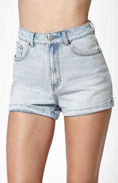 San Pedro Cuffed Denim Mom Shorts