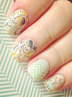 Creative mint green nails colors design makeup & nails в 201 Fabulous Nails, Gorgeous Nails, Cute Nails, Pretty Nails, Mint Green Nails, 3d Sticker, Jamberry Nail Wraps, Jamberry Combos, Nail Time