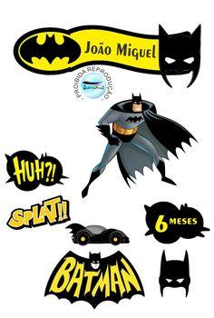 Batman - Batman Printables - Ideas of Batman Printables - Batman Batman Birthday, Batman Party, Superhero Birthday Party, Batman Comic Books, Batman Comics, Batman Batman, Batman Stuff, Batman Cake Topper, Comic Book Template
