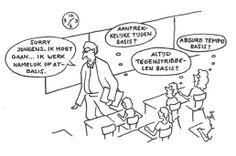 Er wordt vaak véél te lang arbeidstherapie ingezet. Volgens de STECR werkwijzer arbeidstherapie is arbeidstherapie een - niet vrijblijvende - kortdurende activiteit, niet langer dan vier weken, als onderdeel van de re-integratie met als doel om duidelijkheid te krijgen over de belastbaarheid van de arbeidsongeschikte werknemer om te komen tot (uitbreiding van) werkhervatting. My Job, Comics, Quotes, Quotations, Comic Book, Comic Books, Qoutes, Comic, Quote
