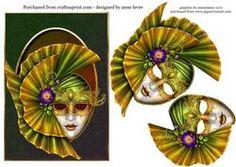 Venetian Masquerade - Green