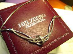Diamonds ARE a girls best friend :)Helzberg 1/4 Carat Diamond Swirl Necklace on Sterling Silver Chain in Box #HelzbergDiamonds #diamonds