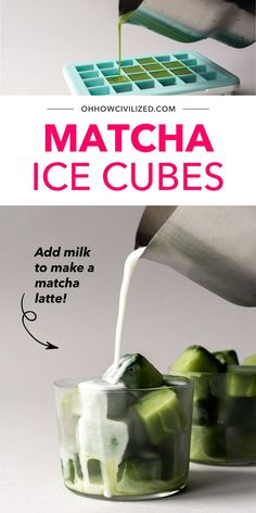 Don't you just love how matcha is so versatile? In this post I'll teach you how to make your own Matcha Latte Ice Cubes. They're perfect for making ice cold lattes! Click to continue. Hot Tea Recipes, Coffee Drink Recipes, Afternoon Tea Table Setting, Iced Green Tea Latte, Tea Etiquette, Cocoa Tea, Tea Sandwiches, Brewing Tea, Ice Cubes