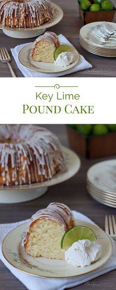 ***Key Lime Pound Cake ~ is a sweet, moist, dense key lime pound cake drizzled with a tart key lime glaze.