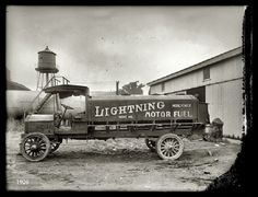 Lightning Oil Company, Fuel Delivery Truck, 1910.