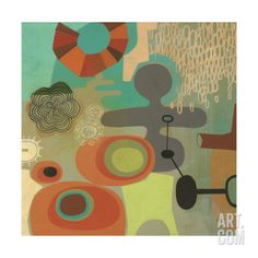 Mid Century Mood 1 Premium Giclee Print by Richard Faust at Art.com