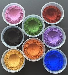 Yellow Ochre: Iron Oxide Blend (77492); #Brick Red: Iron Oxide (77499), Iron #Oxide (77491); Chromium Green: Chromium Oxide (77288); Blue Ultramarine: Ultramarine...
