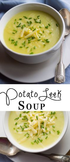 Potato Leek Soup - Erren's Kitchen - So Easy and it's the best Potato Leek Soup EVER