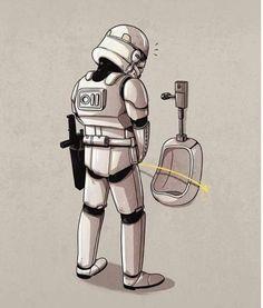 Bad aim! Stormtrooper Star Wars