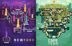 Colorful Illustrations of Cities – Fubiz™