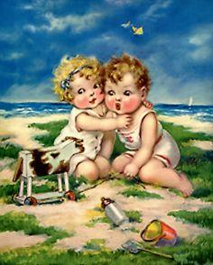 vintage baby art