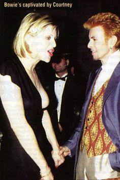 David Bowie and Courtney Love