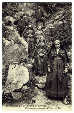 In the Pyrennees: Highlanders on Their Way to Church (c.1908) by postaletrice, via Flickr