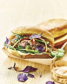 Banh mi burger au porc pour 4 personnes - Recettes Elle à Table