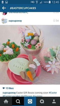 Easter Cupcake Idea from Instagram