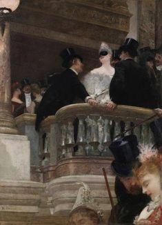 El baile de la ópera, Henri Gervex (1886).