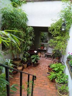Small Courtyard Gardens, Small Terrace, Small Courtyards, Small Patio, Small Gardens, Small Space Gardening, Small Garden Design, Backyard Patio Designs, Backyard Ideas