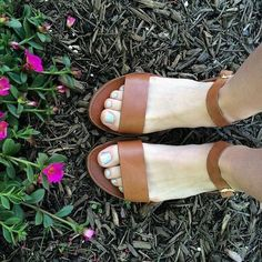 kickin' off summer break with glitter toes and strappy sandals