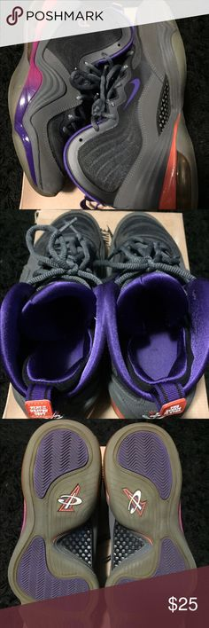 Nike air penny 5 Used bottoms yellowing phoenix suns Nike Shoes Sneakers