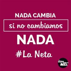 De ti depende... #LaNeta #FraseDelDía