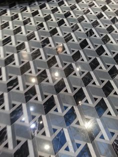 Pattern - Geometrics, Marble, floor, tile, mosaic, blue, grey, Milan