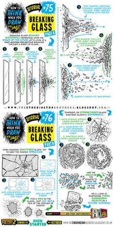 How to draw BREAKING SHATTERING GLASS tutorial by STUDIOBLINKTWICE.deviantart.com on @DeviantArt