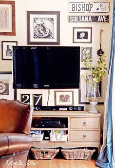 Collage around the tv