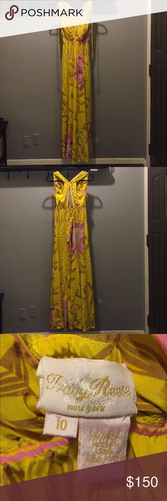 Tracy Reese Silk Maxi Dress Gorgeous silk maxi dress by Tracy Reese! Excellent condition, just two small spots on low on front side that are completely hidden while wearing since the dress flows so nicely. This dress is perfect for your next spring or summer wedding, honeymoon, or bachelorette trip! Tracy Reese Dresses Maxi