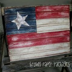 DIY Beadboard Flag {4th of July}