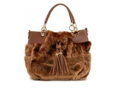 c4d2f0aacc Gorgeous Brown  Fluffy  Handbag. Fashion9Shop