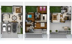 Planos de Casas y Plantas Arquitectónicas de Casas y Departamentos: Plantas Arquitectónicas de casa modelo Boute en Olinto Residencial