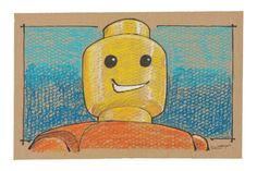 """16""""x24"""" print for sale. 1"""" white border so it is ready to frame for your Lego maniac."""