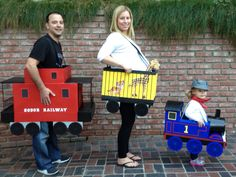 Little Girl Thomas the Tank Engine and Family Costumes… Coolest Halloween Costume Contest