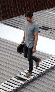 Zanerobe beard t shirt skinny jeans fashion men tumblr jewelry
