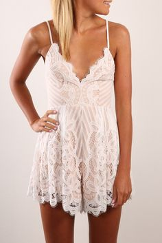 She Said Yes Playsuit White | Women's | Jean Jail - size aus 8