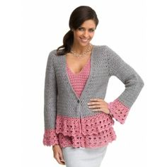 Lacy Jacket - Crochet Patterns - Patterns | Yarnspirations