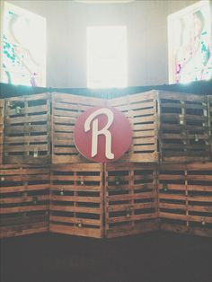 Women's ministry stage design for a Pinterest themed event here at first baptist church Naples