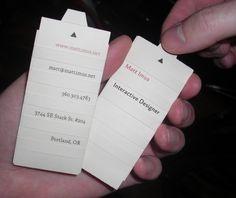 Interactive Business Cards by msimus (via Creattica)